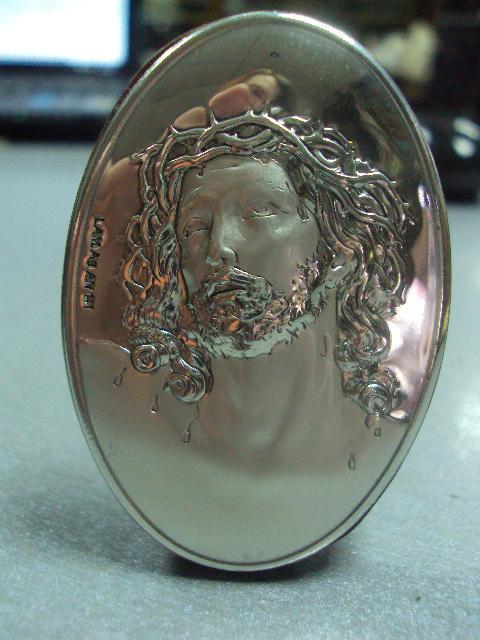 икона иконка серебро италия иисус христос №14