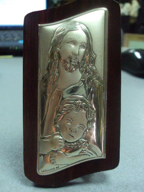 икона иконка серебро италия иисус христос №16