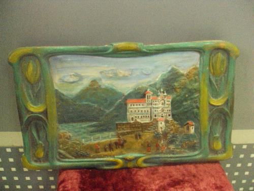 Изразец, кафель, плитка керамическая (посредине во внутренней стороне есть полоса -это склейка) №218
