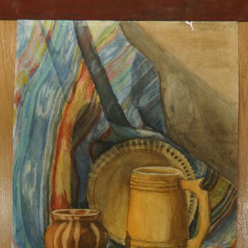 картина кухонный натюрморт, бумага акварель 55 х 36,3 см №161