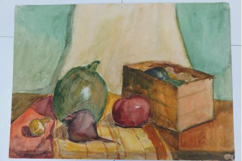 Картина Натюрморт. Овощи. Акварель 41,5 х 29,5 см №175