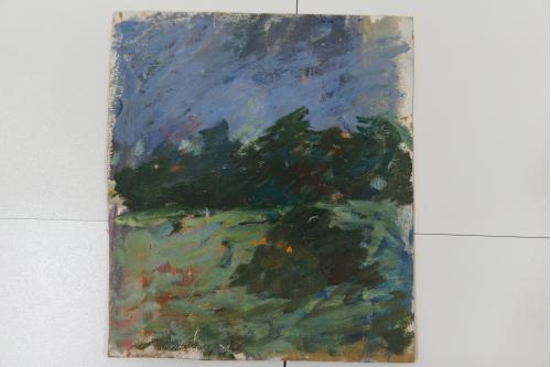 Картина Пейзаж. Масло, картон 22,4х25,7 см №137