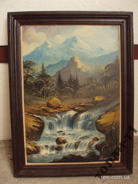 картина пейзаж водопад горы иваньо