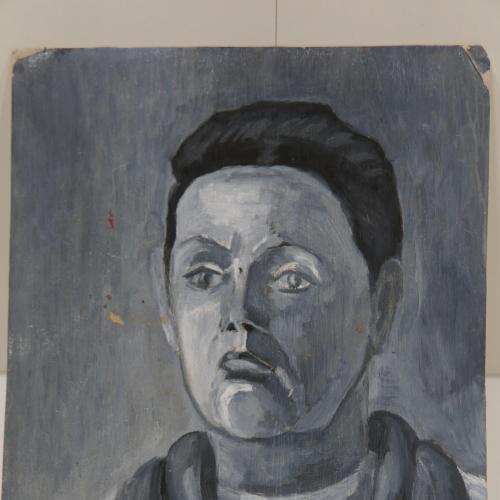 Картина Портрет. Разочарование. Печаль. Картон, масло 31,3х42,4 см №148