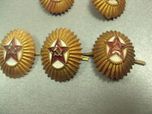 кокарда офицерская латунь лот 5 шт №14881