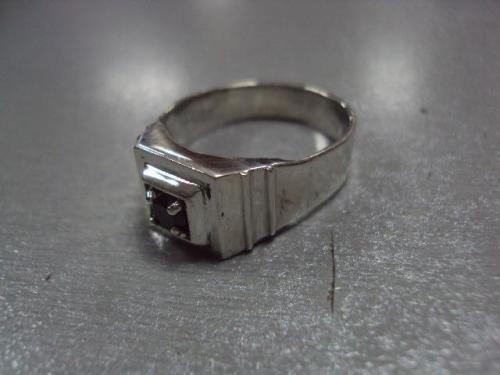 Кольцо мужское перстень печать камень морион серебро 925 проба украина вес 8,31 г размер 20 №10090