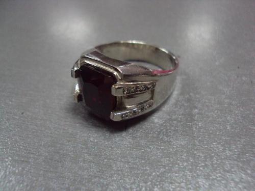 Кольцо мужское перстень печатка гранат серебро 925 проба украина вес 16,74 г размер 22,5 №10091