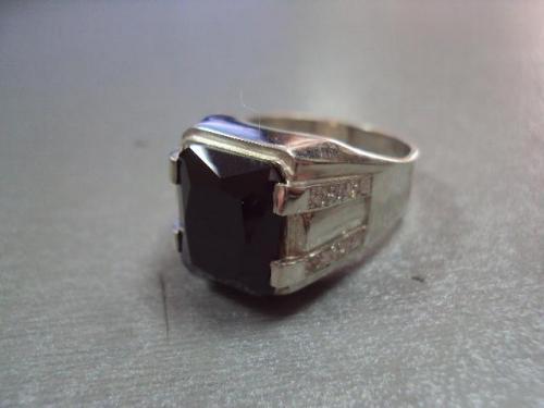 Кольцо мужское перстень печатка камень морион серебро 925 проба украина вес 11,05 г размер 21 №10092