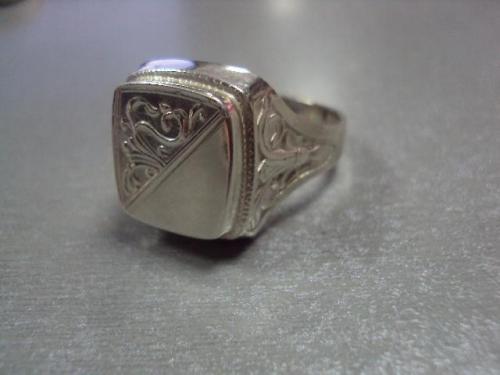 Кольцо мужское перстень печатка серебро 925 проба украина вес 14,36 г размер 24 №10098