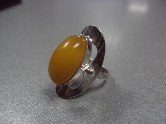 """кольцо янтарь серебро 925"""" украина 6,33 г 16,5 размер"""
