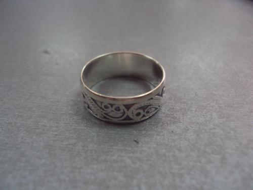 """кольцо женское ажурное серебро 900""""  3,16 г 17,5 размер"""