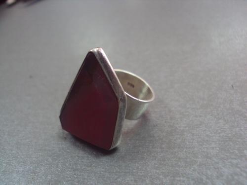"""кольцо женское камень серебро 925"""" 14,68 г безразмерное - размер регулируется"""