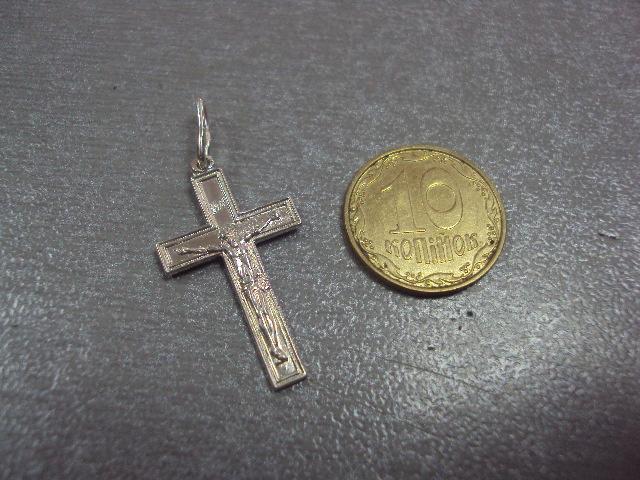 """крестик серебро 900"""" 1,15 г"""