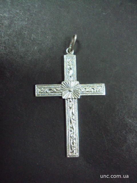 """крестик серебро 925"""" европа  44х29 мм  3.59 г"""