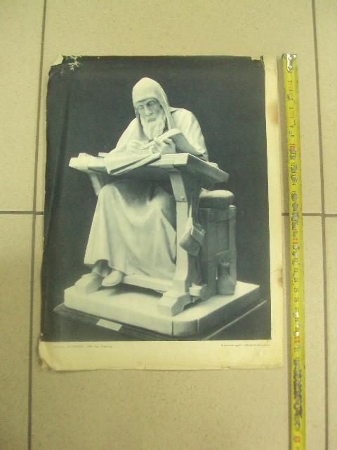 литографии скульптура нестор летописец, царь иван грозный, петр 1, ермак  №8344