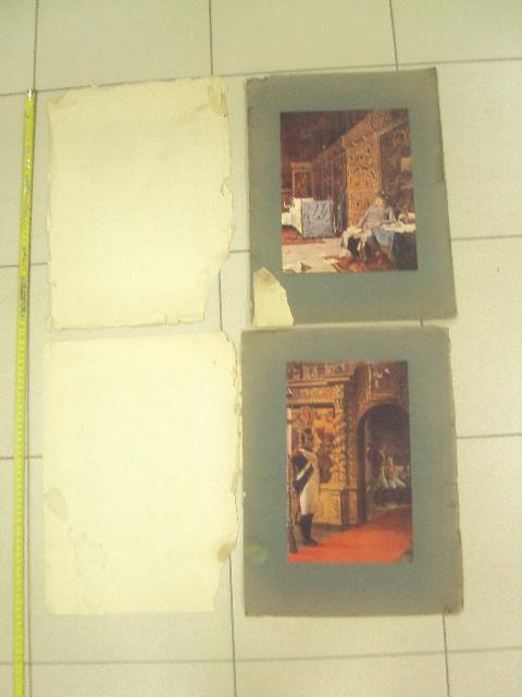 литографии верещагин дурные вести из франции, маршал в монастыре  лот 2 шт №8348
