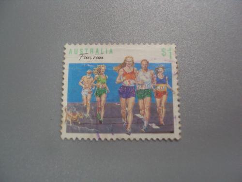 марка Австралия 1990 виды спорта бег гаш №2260