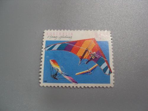 марка Австралия 1990 виды спорта негаш №2259