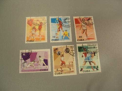 марки серия Куба 1978 спорт лот 6 шт гаш №1456