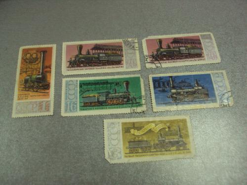 марки СССР 1978 пасажирский паровоз серия лот 6 шт №815