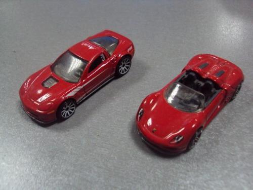 машинка  Chevrolet Corvette Hot Wheels лот 2 шт №1209