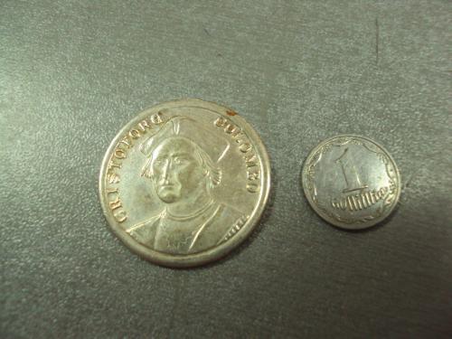 медаль жетон христофор колумб cristoforo colombo trans mare cvrpvnt №7969