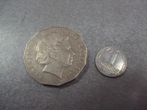 монета австралия 50 центов 2001 №14416
