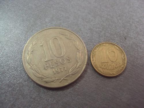 монета чили 10 песо 1977 №994