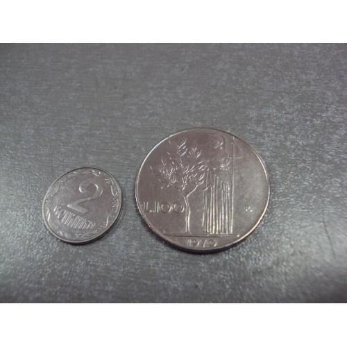 монета италия 100 лир 1970 №9021