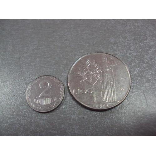 монета италия 100 лир 1978 №9009