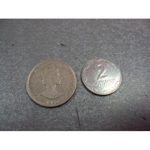 монета каймановы острова 10 центов 1990 №8281