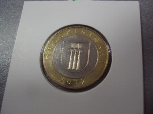монета литва 2 лита 2012 герб №14236