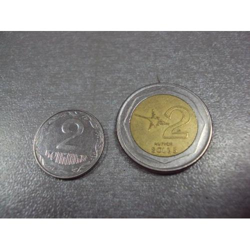 монета перу 2 соль 2009 №8583