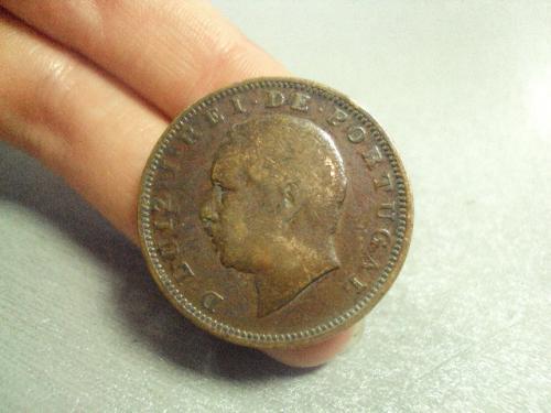 монета португалия 20 рейс 1884 №8070