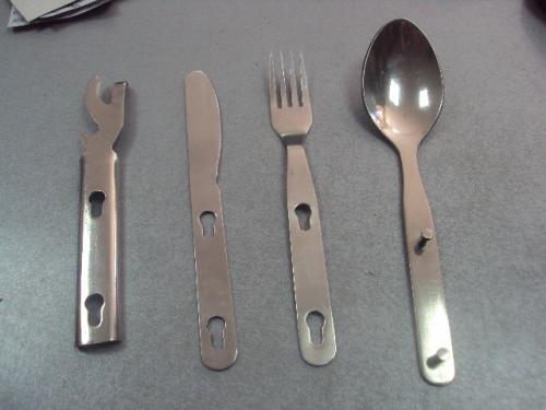 набор ложка вилка нож ключ открывалка №6006