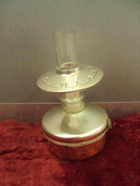 настольная керосиновая лампа светлячок  ссср миниатюра 1969 цена 4 рубля 50 коп №11596