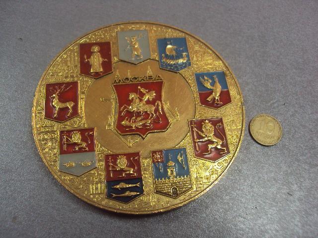 настольная медаль москва золотое кольцо россии  №4952