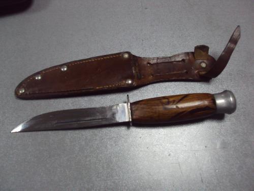 нож охотничий с компасом в чехле №2046