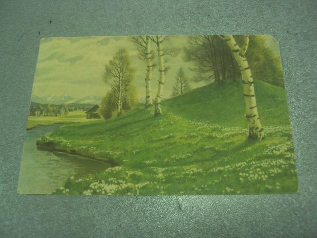 открытка австрия лесной пейзаж 1945 №1627