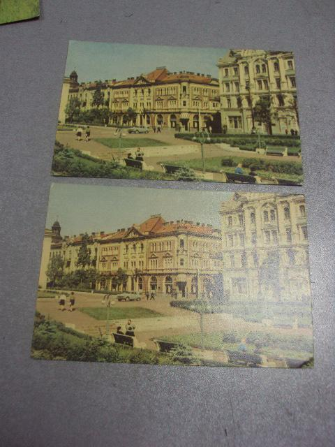 открытка черновцы театральная площадь 1968 лот 2 шт №1005
