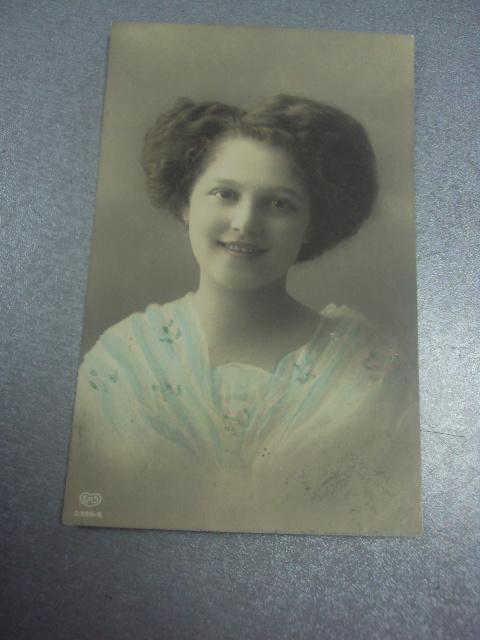 открытка девушка в голубом франция 1912 №1509