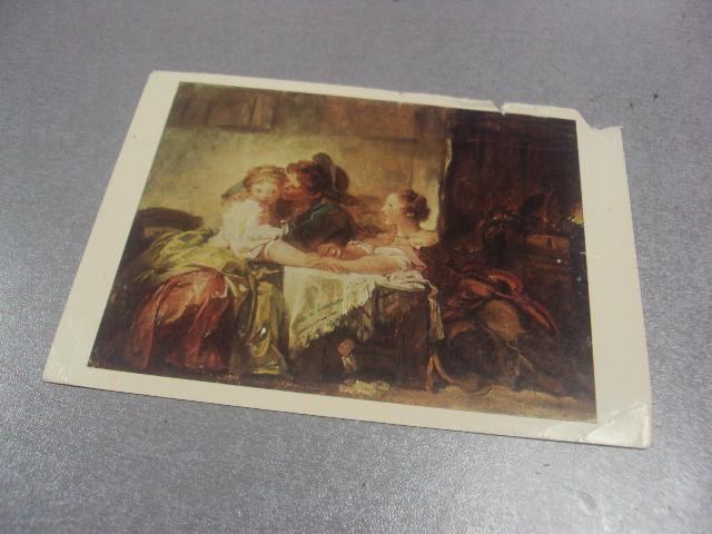 открытка фрагонар поцелуй  №541
