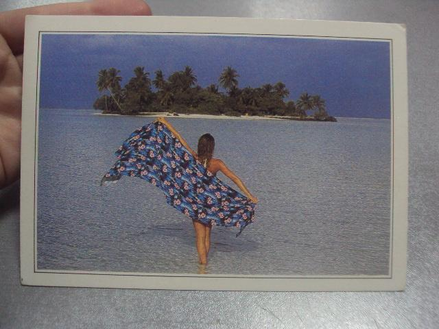 открытка мальдивы №966