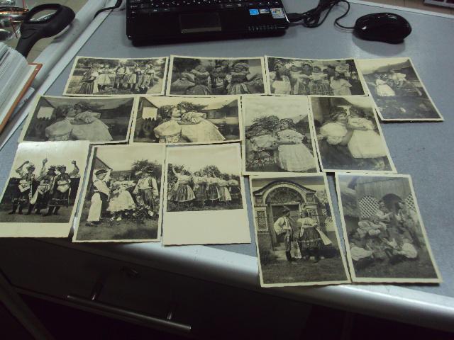 открытка моравские национальные костюмы лот 13 шт №1386