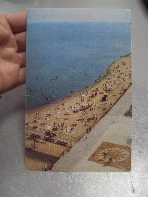 открытка светлогорс пляж №1121