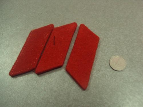 петлица красная лот 3 шт №14997