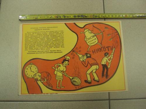 плакат основные причины язвенной болезни  каменец подольский 1984 №9459