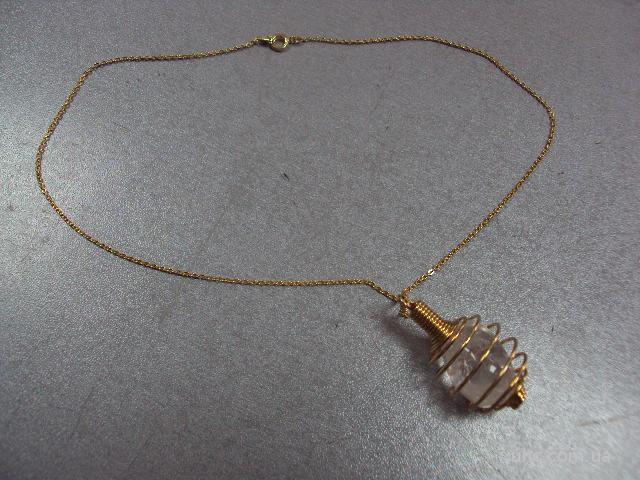 подвеска хрусталь натуральный камень и цепочка