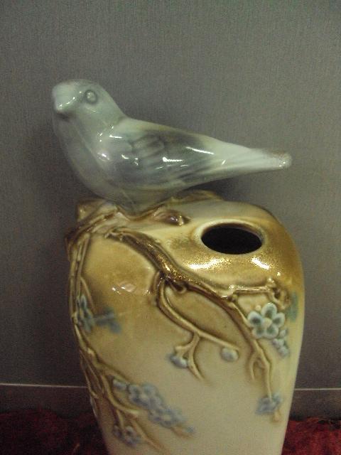 полонное зхк вазочка птичка  №11005