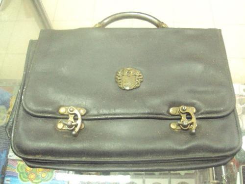 портфель с металлическими замками винтажный №7047